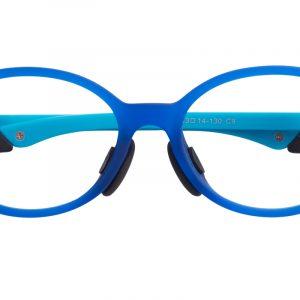 Kid's Oval Eyeglasses Full Frame Silica-gel Blue - FP1547