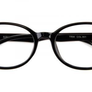 Kid's Oval Eyeglasses Full Frame TR90 Black - FP1205