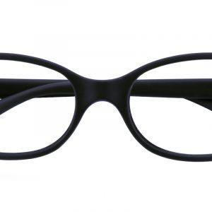 Kid's Oval Eyeglasses Full Frame TR90 Black - FP1589