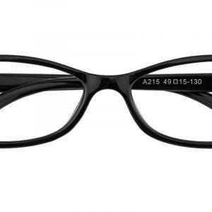 Kid's Oval Eyeglasses Full Frame TR90 Black - FP1851