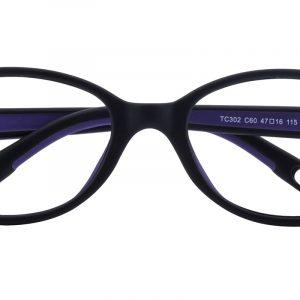 Kid's Oval Eyeglasses Full Frame TR90 Black - FP1999