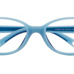 Kid's Oval Eyeglasses Full Frame TR90 Blue - FP1997