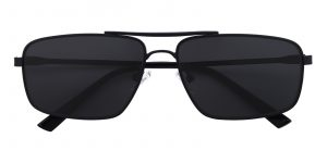 Men's Aviator Sunglasses Full Frame Metal Black - SUP0511