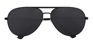 Men's Aviator Sunglasses Full Frame Metal Black - SUP0513