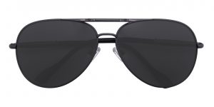 Men's Aviator Sunglasses Full Frame Metal Gunmetal - SUP0509