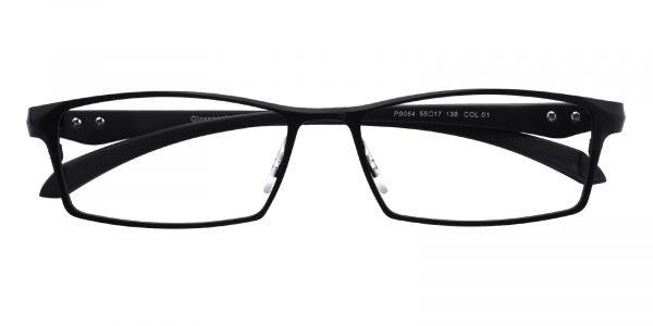 Men's Rectangle Eyeglasses Full Frame Metal Black - FM1296