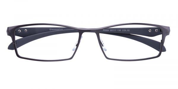 Men's Rectangle Eyeglasses Full Frame Metal Gunmetal - FM1297