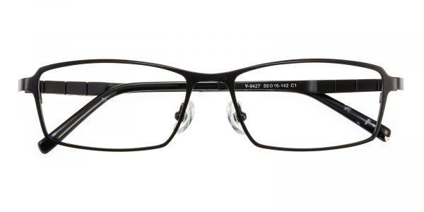Men's Rectangle Eyeglasses Full Frame Titanium Black - FT0238
