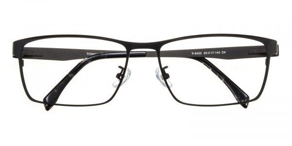 Men's Rectangle Eyeglasses Full Frame Titanium Black - FT0239