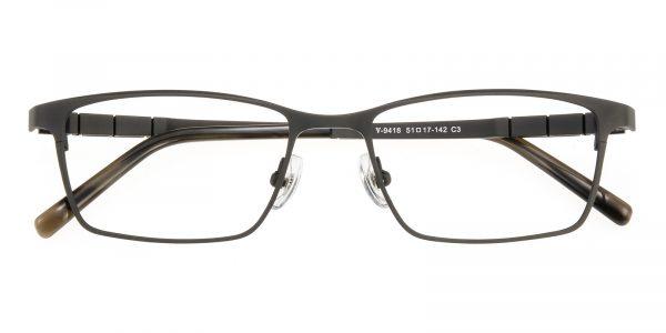Men's Rectangle Eyeglasses Full Frame Titanium Gunmetal - FT0236