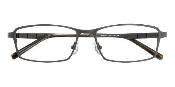 Men's Rectangle Eyeglasses Full Frame Titanium Gunmetal - FT0237