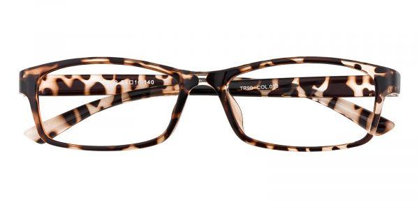 Women's Rectangle Eyeglasses Full Frame TR90 Crystal/Tortoise - FP1763