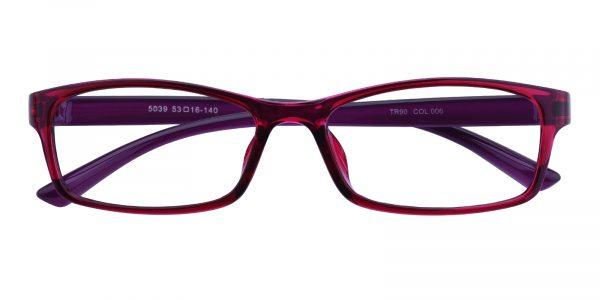 Women's Rectangle Eyeglasses Full Frame TR90 Purple - FP1764