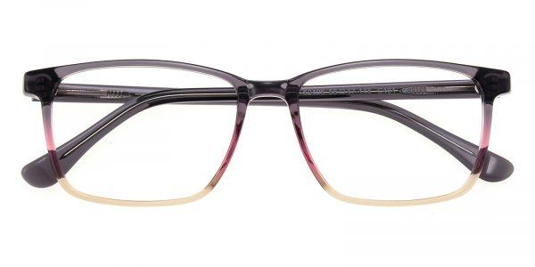 Women's Rectangle Horn Eyeglasses Full Frame Plastic Purple - FZ1248