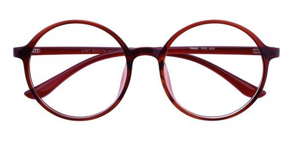 Women's Round Eyeglasses Full Frame TR90 Brown - FP1766