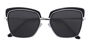 Women's Square Sunglasses Full Frame TR90 Black - SUP0515