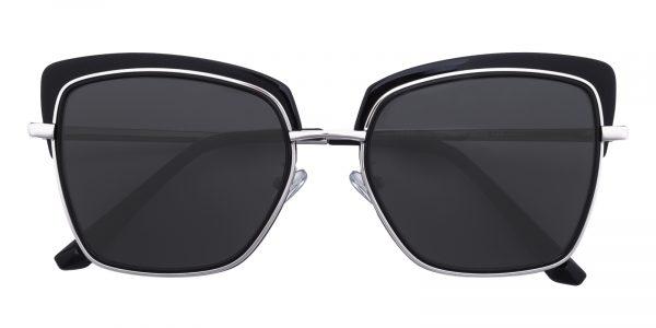 Women's Square Sunglasses Full Frame TR90 Black - SUP0515