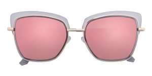 Women's Square Sunglasses Full Frame TR90 Crystal/Pink mirror-coating - SUP0514